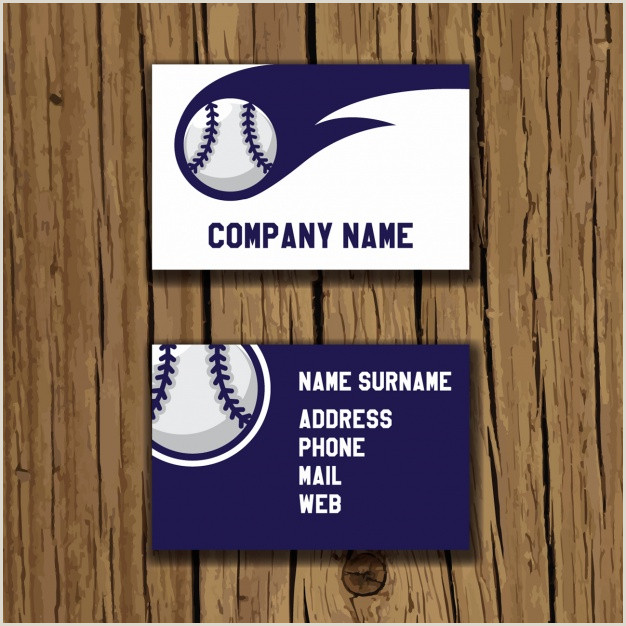 Unique Sport Business Cards Baseball Free Vector