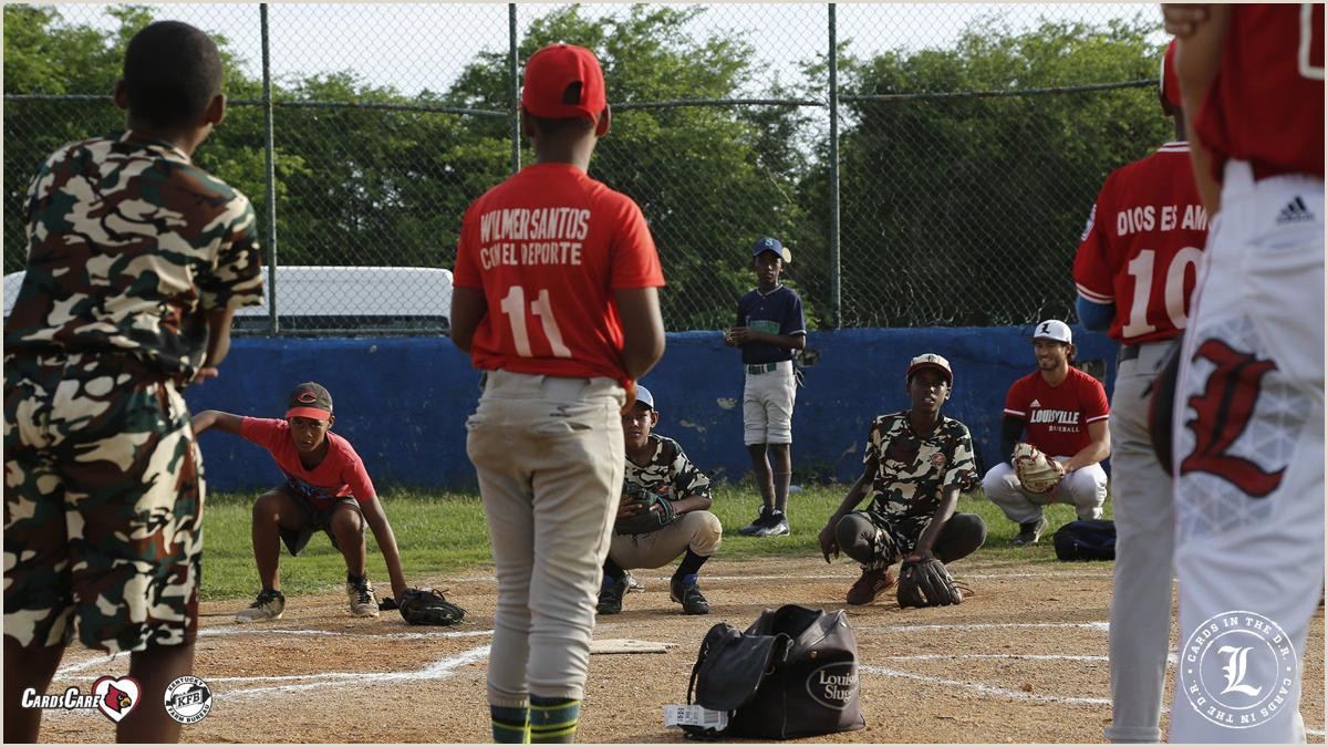 Unique Sport Business Cards Baseball Louisville Baseball Team Holds Clinic For Kids During