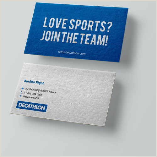 Unique Sport Business Cards Design A Smart And Simple Visit Card For A Sporting Goods