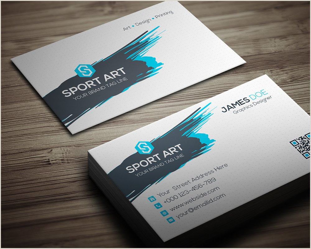 Unique Sport Business Cards Sport Art Business Card