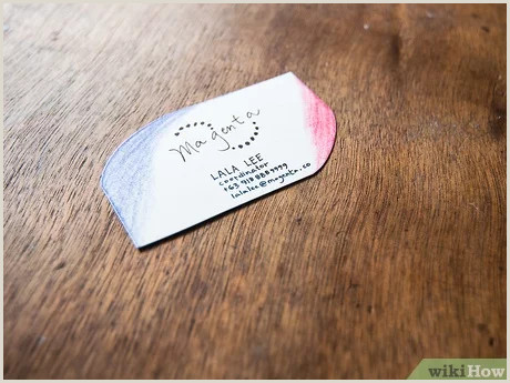 Unique Style Cutout Business Cards 3 Ways To Make A Business Card Wikihow
