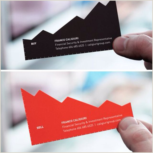Unique Style Cutout Business Cards Finance Consultant