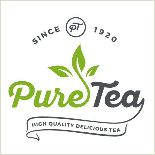 Unique Tea Shop Business Cards Puretea High Quality Delicious Tea Logo In Logo Design By
