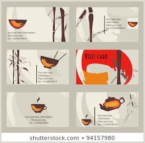 Unique Tea Shop Business Cards Tea Business Card Stock S & Vectors