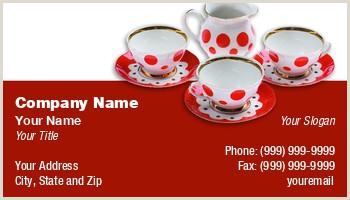 Unique Tea Shop Business Cards Tea Business Cards