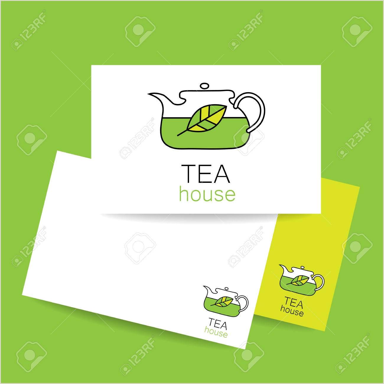 Unique Tea Shop Business Cards Tea House Concept Business Card Design For Tea Shop Restaurant