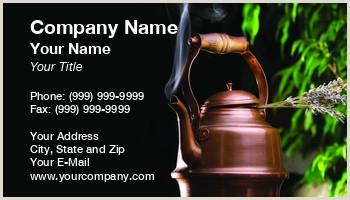 Unique Tea Shop Business Cards Tea Room Business Cards