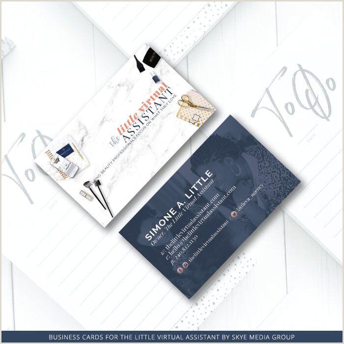 Unique Virtual Assistant Business Cards Business Card The Little Virtual Assistant