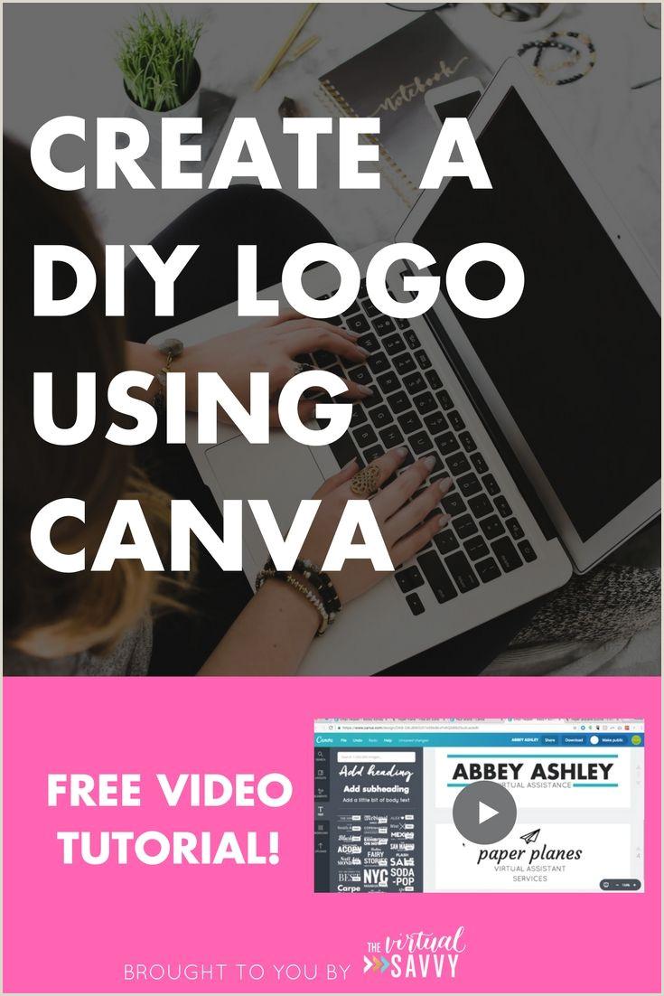 Unique Virtual Assistant Business Cards Create A Diy Logo Using Canva