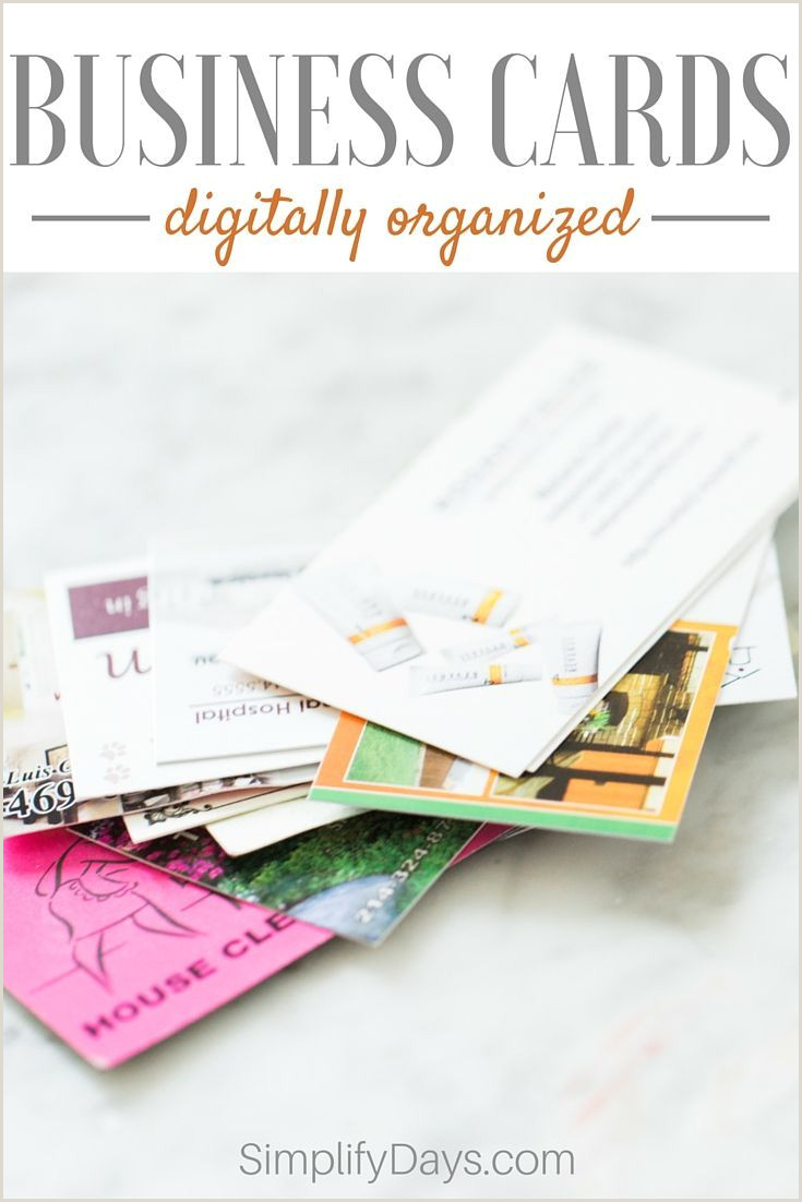 Unique Way To Organize Business Cards Business Cards Digitally Organized Simplify Days