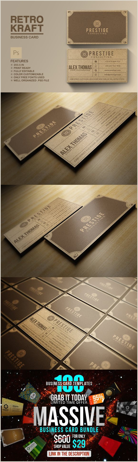 Unique Way To Organize Business Cards Retro Kraft Business Card
