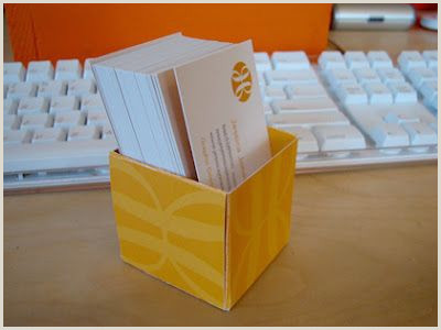 Uses For Old Business Cards Business Card Box Made Of Business Cards