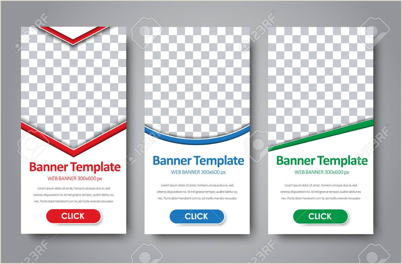 Vertical Banner Dimensions Vertical Design Standard Size Web Banner With Diagonal Round