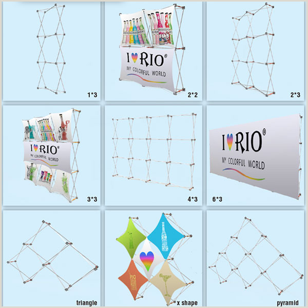Vertical Banners And Stands 3 X 3 Pop Up Banner Stands With Plastic Buckle Connector