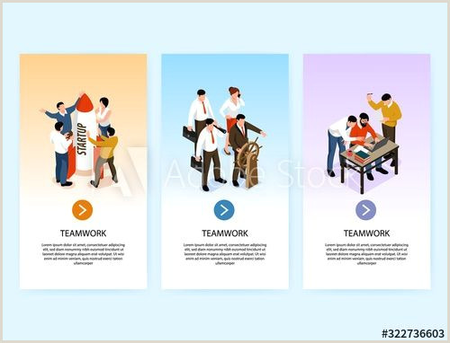 Vertical Banners Design Teamwork Collaboration Vertical Banners Affiliate