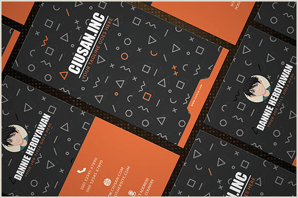 Vertical Business Card Design Creative Vertical – Business Card