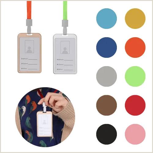 Vertical Business Card Design New Fice School Vertical Id Business Case Name Card Work Card Holders Aluminum Alloy Vova