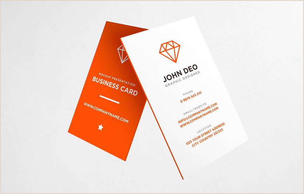 Vertical Business Card Design Visitenkarte Mockup Bilder Kostenlos Drucken