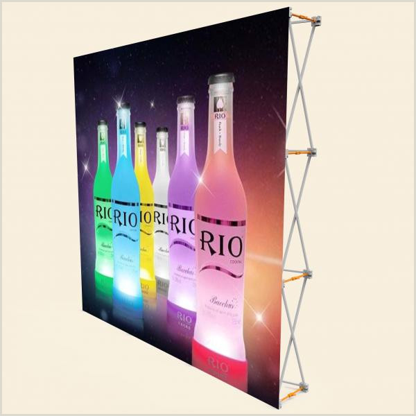 Vertical Retractable Banner 3 X 3 Pop Up Banner Stands With Plastic Buckle Connector