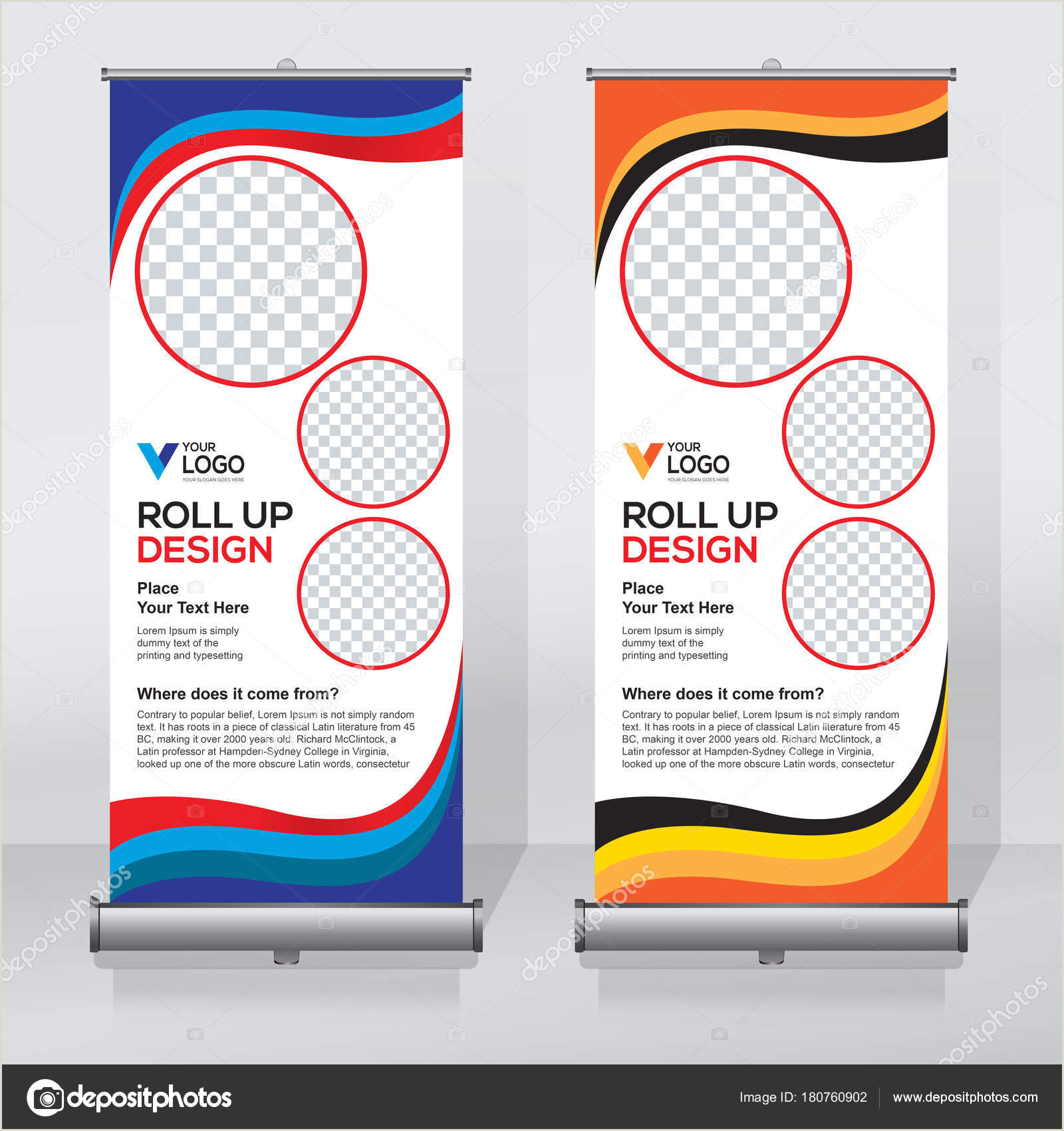 Vertical Retractable Banner Roll Up Banner Design Template Vertical Abstract Background Pull Up Design Modern X Banner Rectangle Size