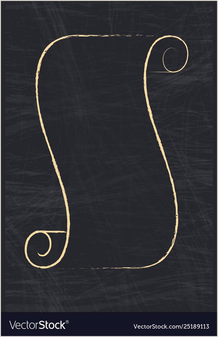 Vertical Scroll Banner Shape Paper Scroll Vertical Outline Banner Vector Image