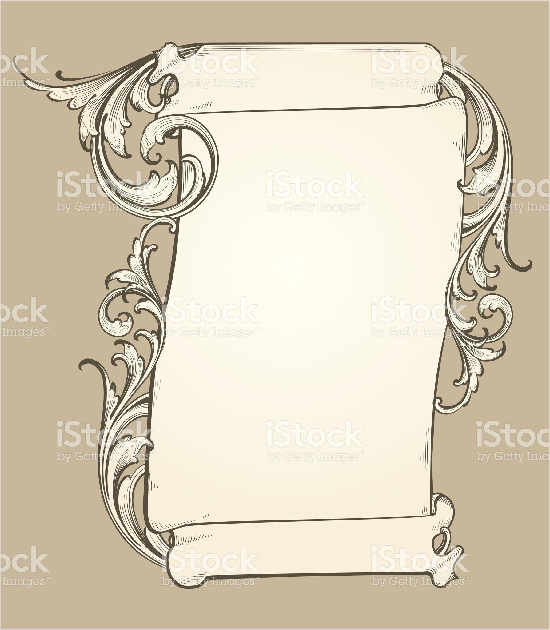 Vertical Scroll Banner Vertical Scroll Banner Royalty Free Stock Vector Art
