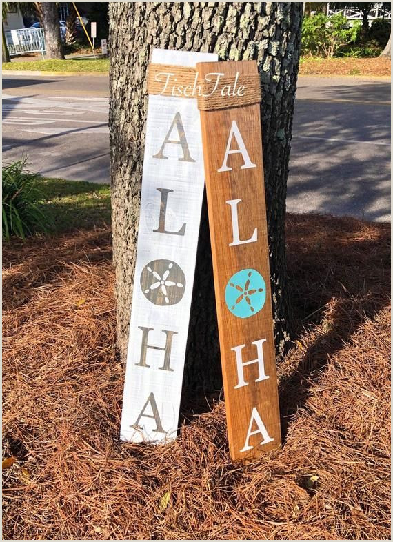 Vertical Signs And Banners Aloha Porch Sign Rustic Wood Vertical Extra Sign