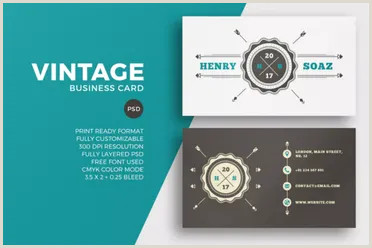 Vintage Business Cards Templates Free 38 Vintage Business Card Templates Free Psd Designs
