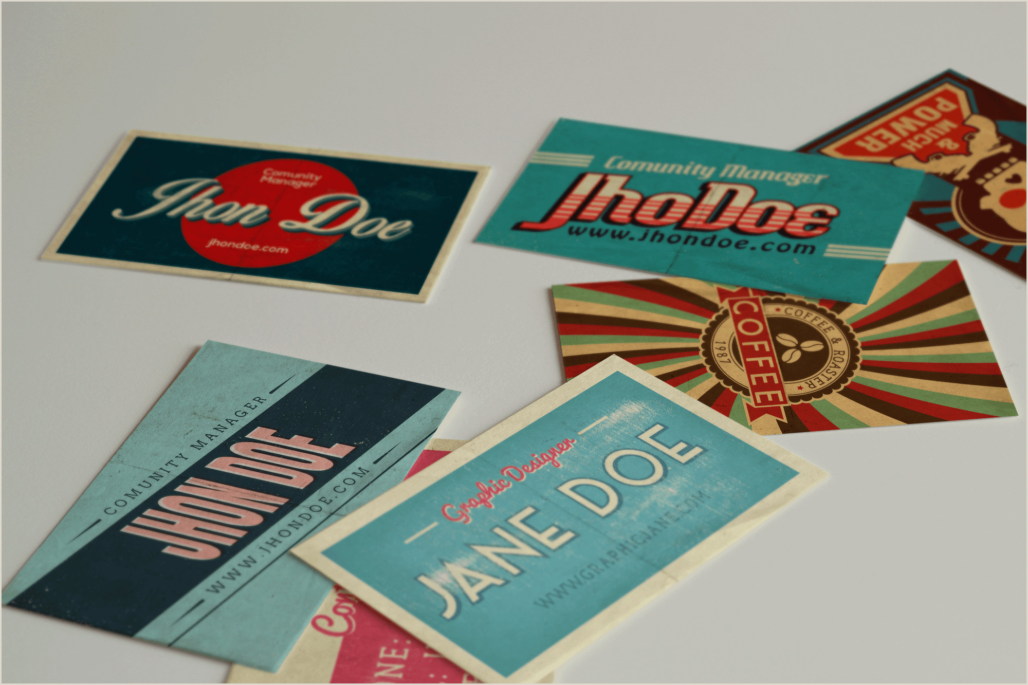 Vintage Business Cards Templates Free 50 Vintage Business Cards In Psd & Ai Designshock