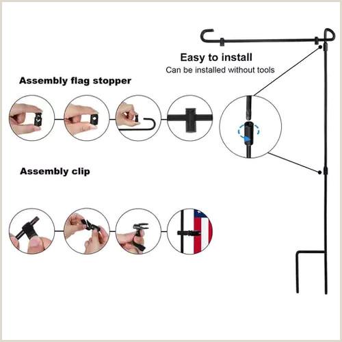 Vinyl Banner Holder Garden Iron Flag Pole Outdoor Yard Flags Stand Holder Banner Bracket Stoppers Vova