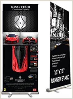 """Vinyl Banner With Stand Amazon Signworld 33"""" Retractable Roll Up Banner Stands"""