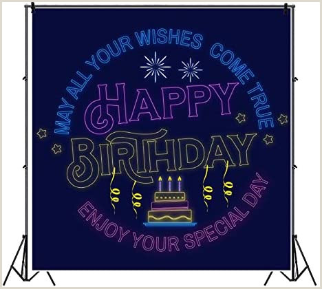 Vinyl Banner With Stand Amazon Yeele Neon Happy Birthday Backdrop 8x8ft May