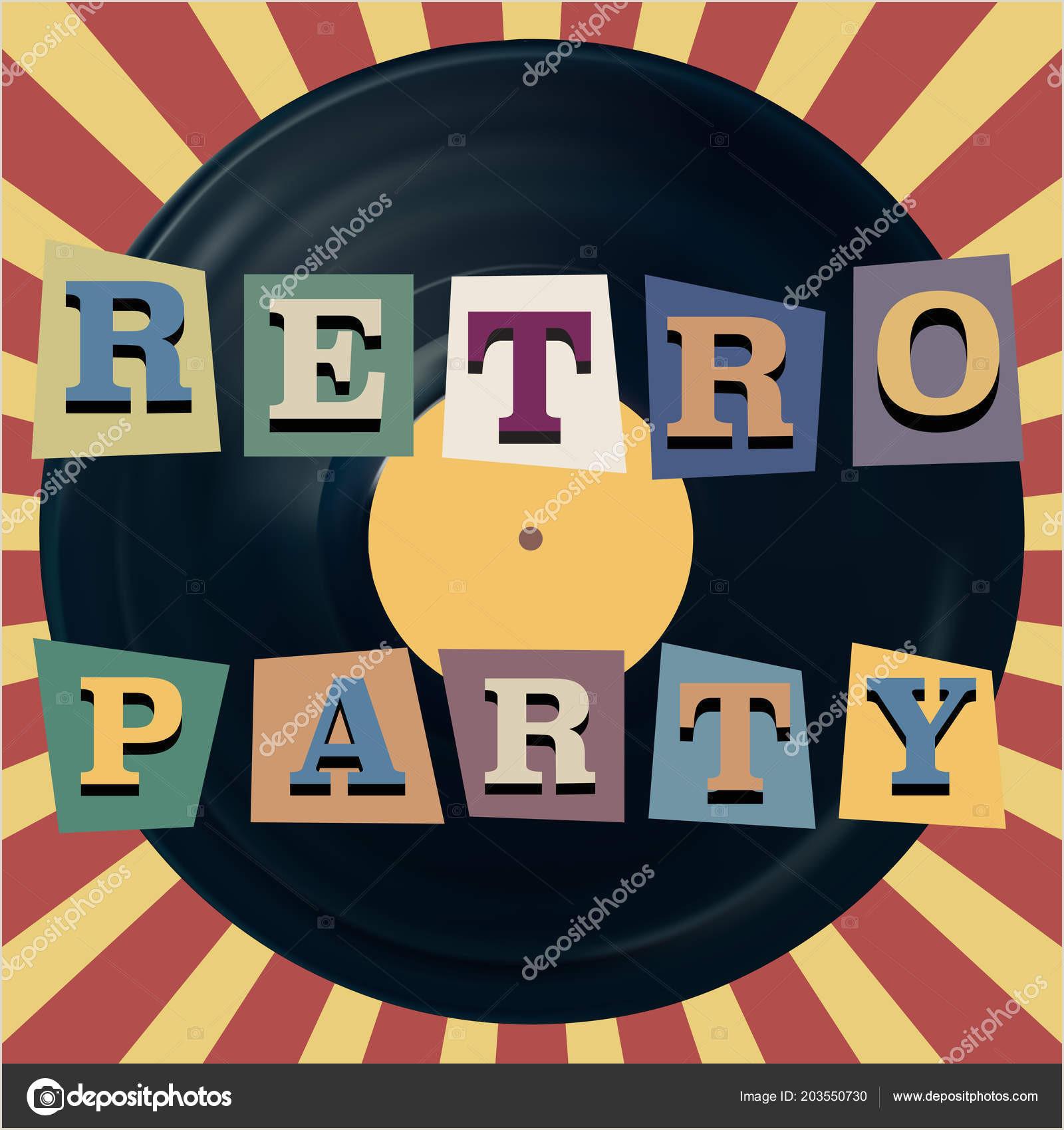 Vinyl Table Banner Retro Party Banner Vintage Vinyl Record Banner Eps10