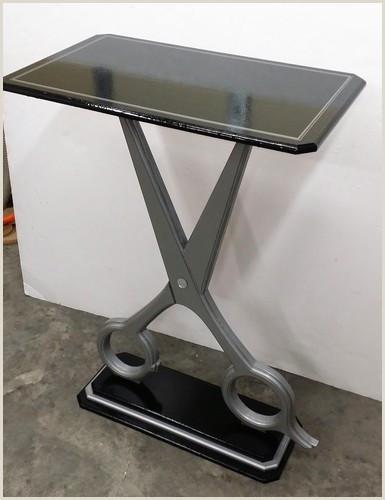 Vinyl Table Banner Unique Scissor Table Custom Salon Table Contemporary Barber Table