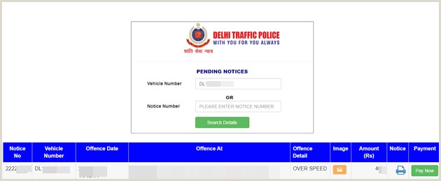 Visit Card Online E Challan Line Payment How To Check And Pay Your E
