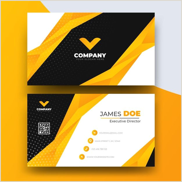 Visit Card Template Abstract Business Card Template With Log
