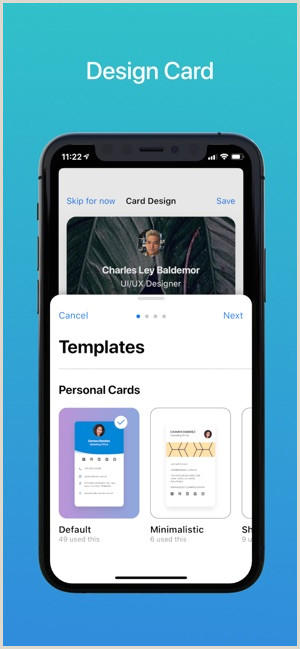 Visit Cards Wecards Digital Business Card On The App Store