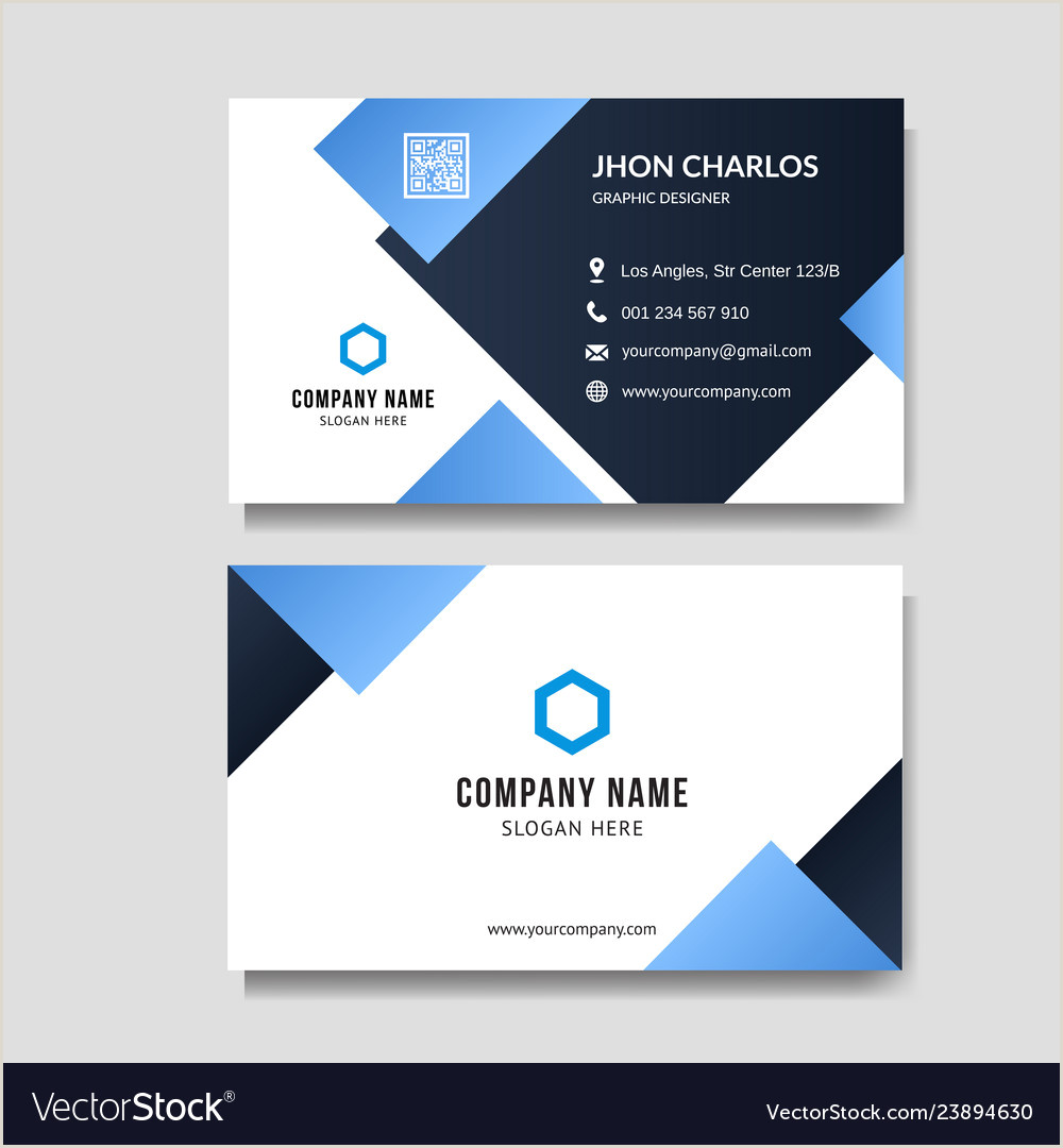 Visiting Card Background Vector Blue Business Card Background Free Premium Vector