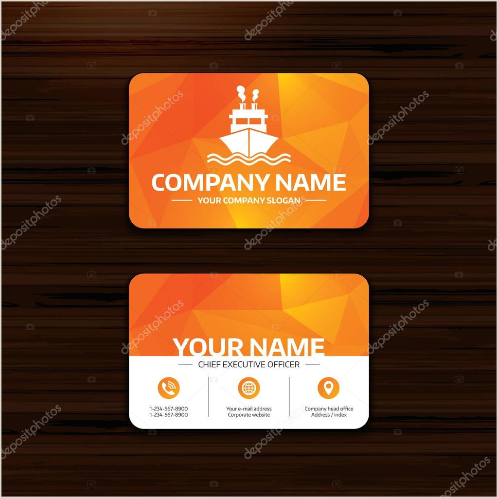 Visiting Card Format Business Or Visiting Card Template