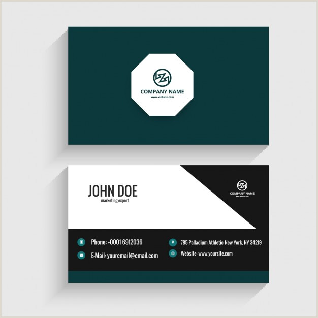 Visiting Card Format Download Vector Modern Visiting Card With Octagon