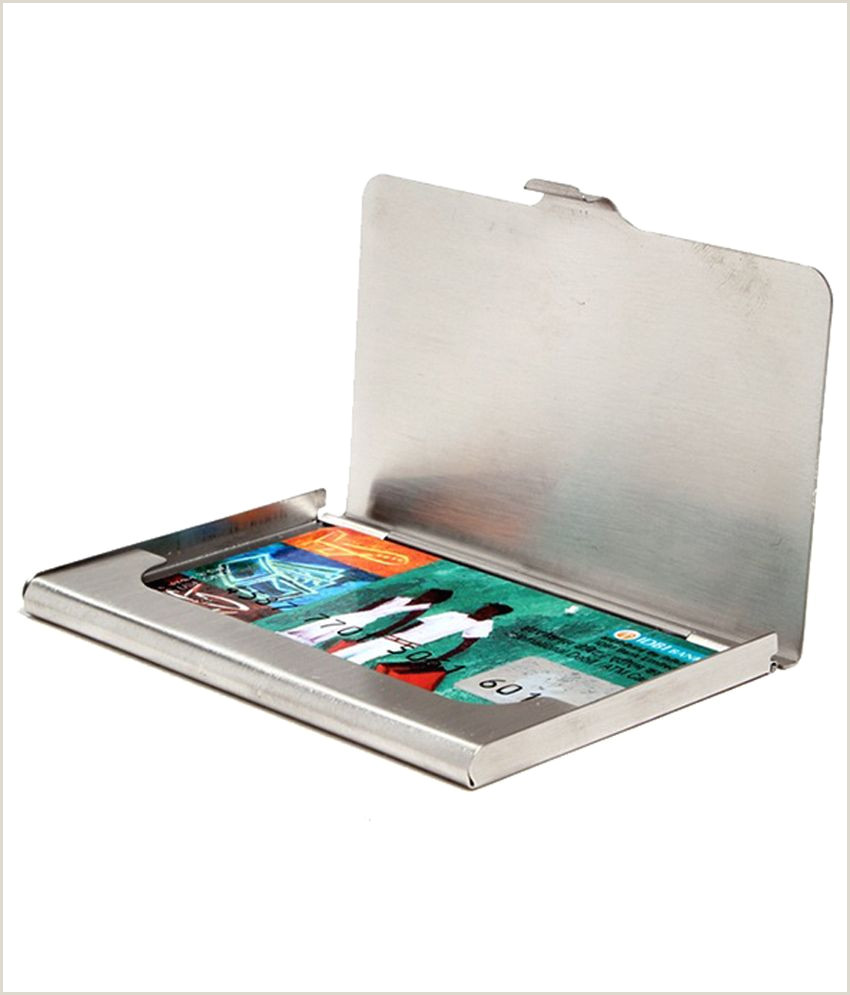 Visiting Cards Excelencia Flap Silver Card Holder