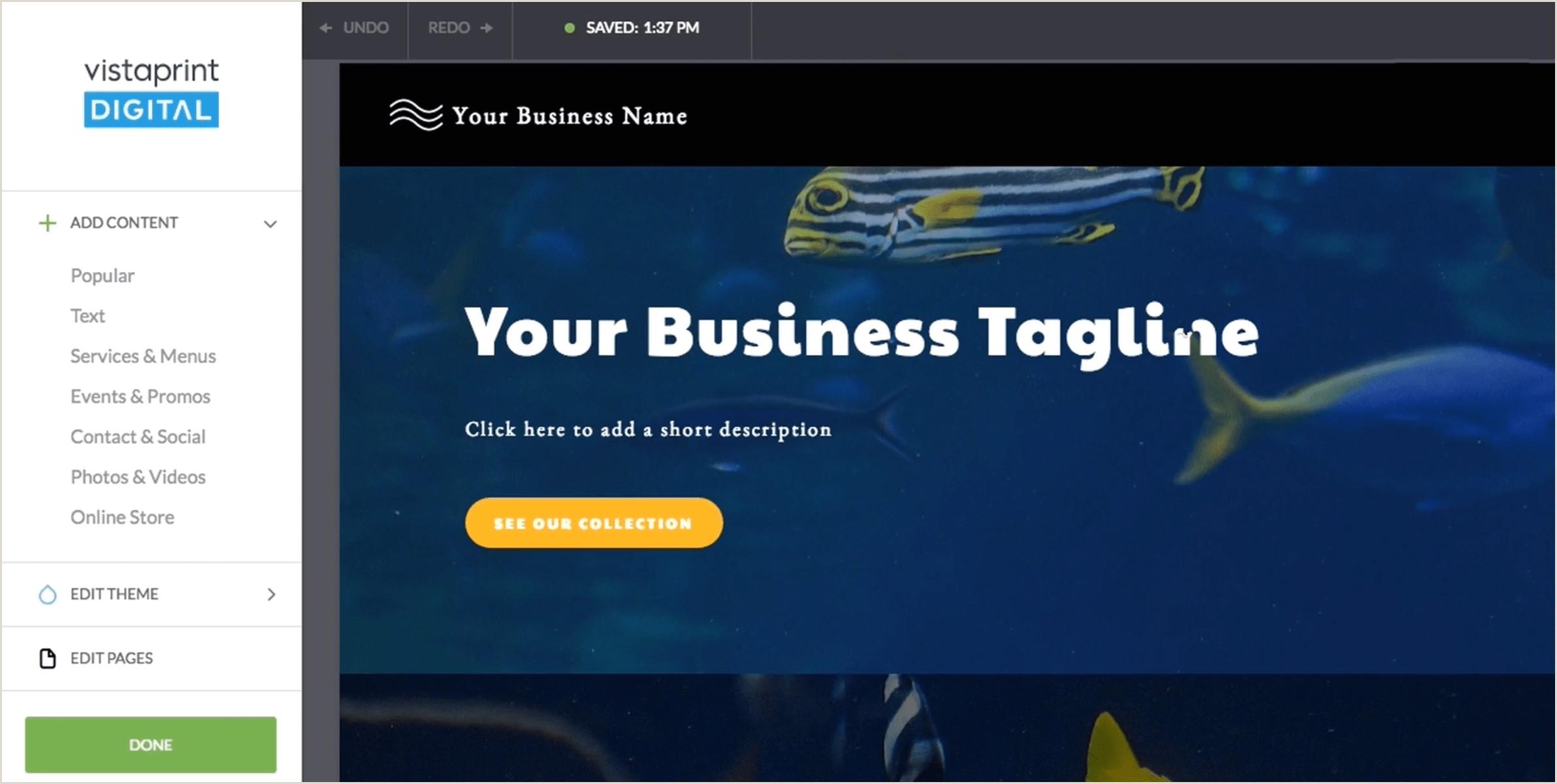 Vista Print Banners Review Vistaprint Website Builder