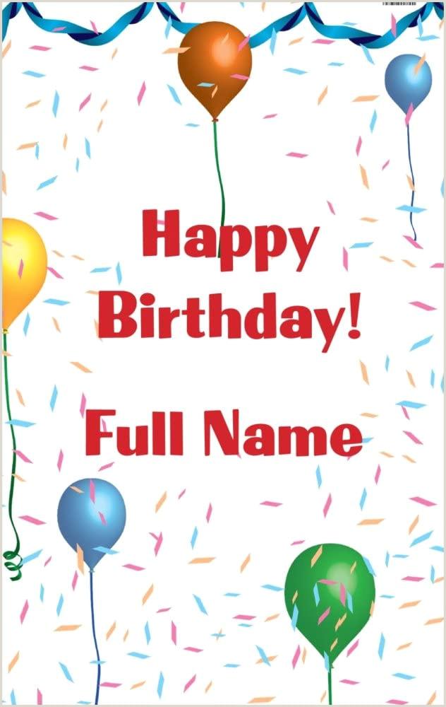 Vista Print Birthday Banners Amazon Vistaprint Blue Happy Birthday 2 5 X 4 Vertical