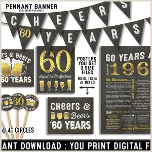 Vista Print Birthday Banners Cheers And Beers To 60 Years Booth Frame Prop Wel E