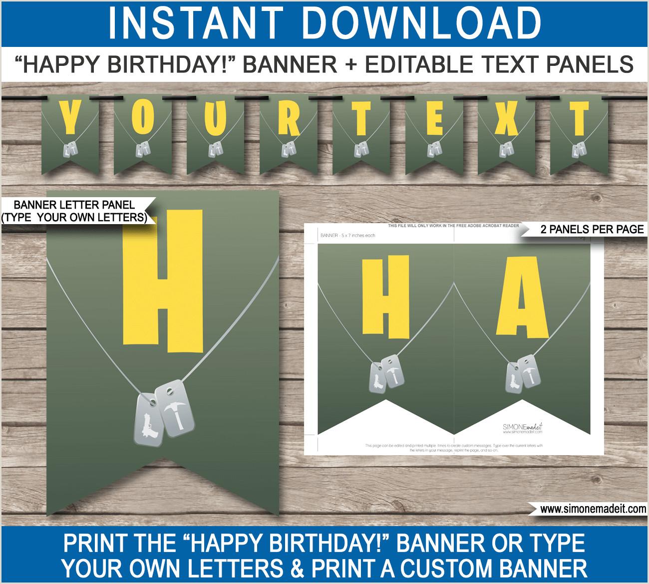 Vista Print Birthday Banners New Fortnite Birthday Party Printables