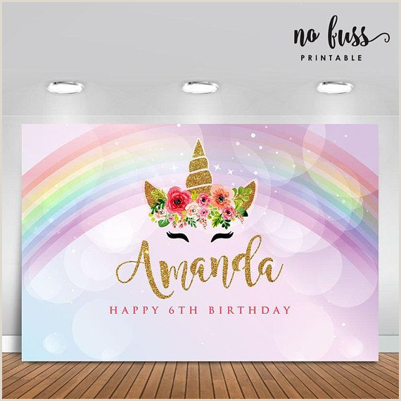 Vista Print Birthday Banners Unicorn Backdrop Party Banner Poster