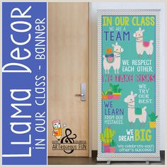 Vistaprint Banner Review Llama Theme Classroom Decor