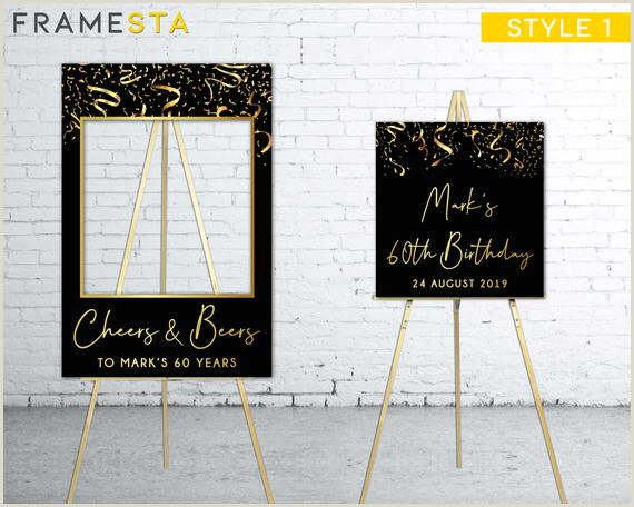 Vistaprint Business Signs Cheers And Beers To 60 Years Booth Frame Prop Wel E Sign