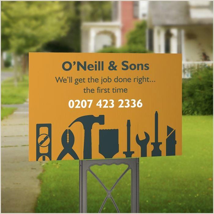 Vistaprint Business Signs Custom Home Builder Signs – Sharonsala