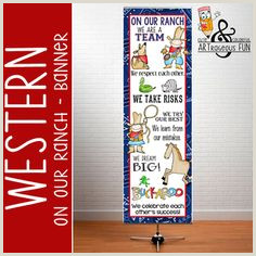 Vistaprint Table Banner 100 Best Western theme Classroom Decor Images